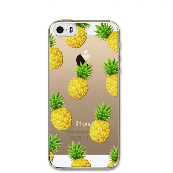 Juicy Pineapple Soft Silicon Phone Cover  Clear Thin Case For Apple iPhone 6 6 Plus