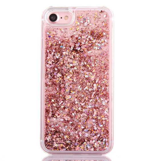 Luxury Rose Gold Glitter Flakes Case For iPhone 6 6s b9082eff1