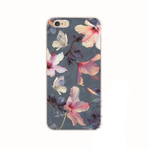 Hawaiian Hibiscus iPhone  5 5S, 5C, 6 6S, 6s Plus Back Case Cover