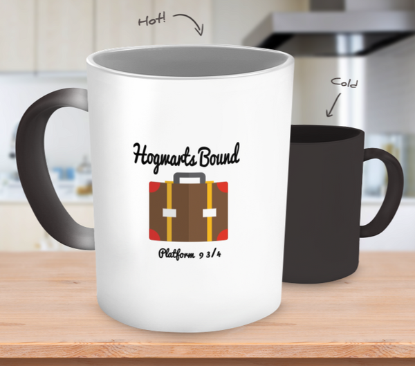 Hogwarts Bound Platform 9 3/4 Harry Potter Color Changing Mug