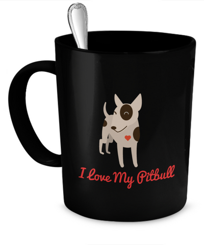 I Love My Pitbull Mug Matches iPhone Case and Jewelry