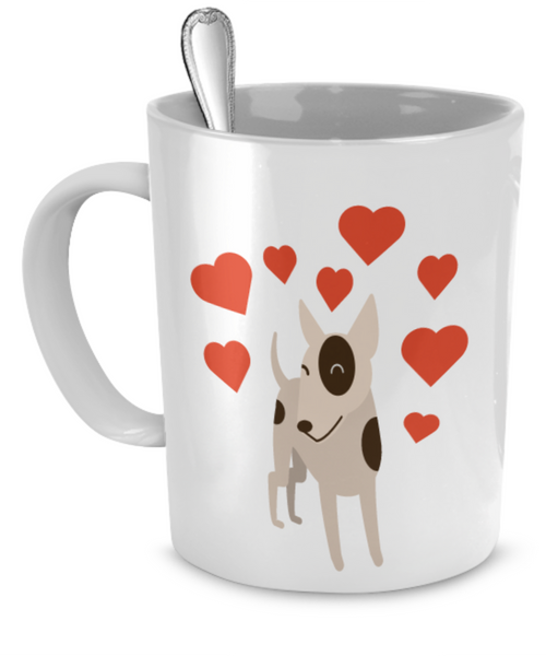 I Love My Pitbull Exclusive White Mug Design