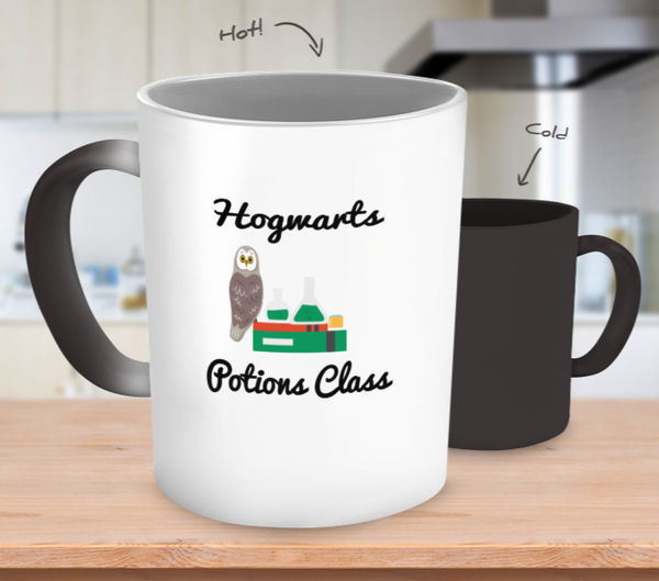 Magical Hogwarts Potions Class Color Changing Mug Harry Potter