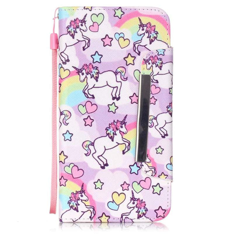 KAWAII Unicorn Flip Case Wallet for iPhone 4s 5 5s 6 6s 6Plus