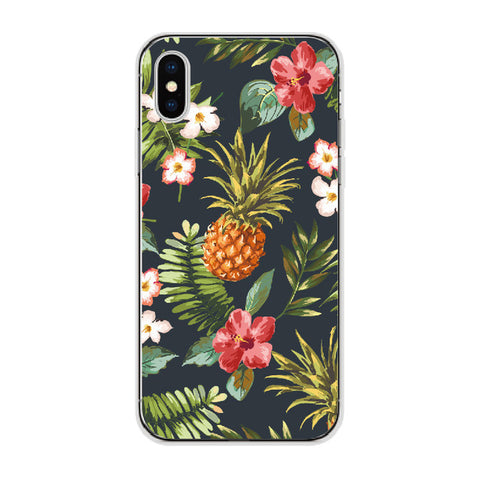 Vintage Tropics Pineapple and Hibiscus Case for iPhone and Samsung