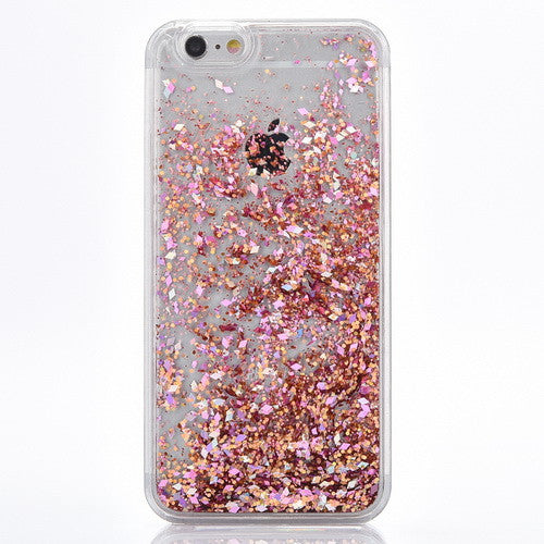 newest 02d3e 98be1 Rose Gold Cascading Glitter Case for iPhone 7 7 Plus, 8, 8 Plus