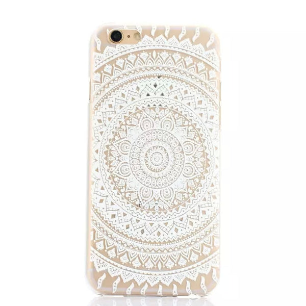 Boho Chic White Lace Mandala iPhone Case 6 & 6Plus