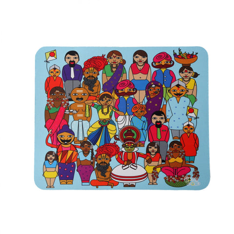 Mousepad FACES OF INDIA MOUSEPAD - LoveThisStuff.com
