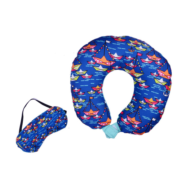 Unisex Eye Mask BOATS TRAVEL PILLOW WITH EYE MASK - LoveThisStuff.com