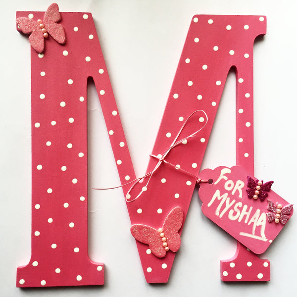 Polka Dot M - Choose any Letter - LoveThisStuff