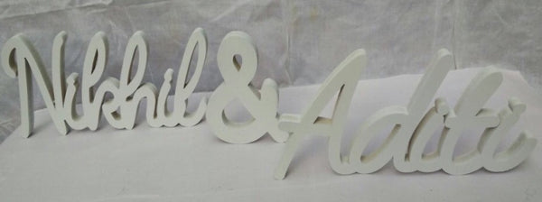 Alphabet Customised wooden couple names - LoveThisStuff.com