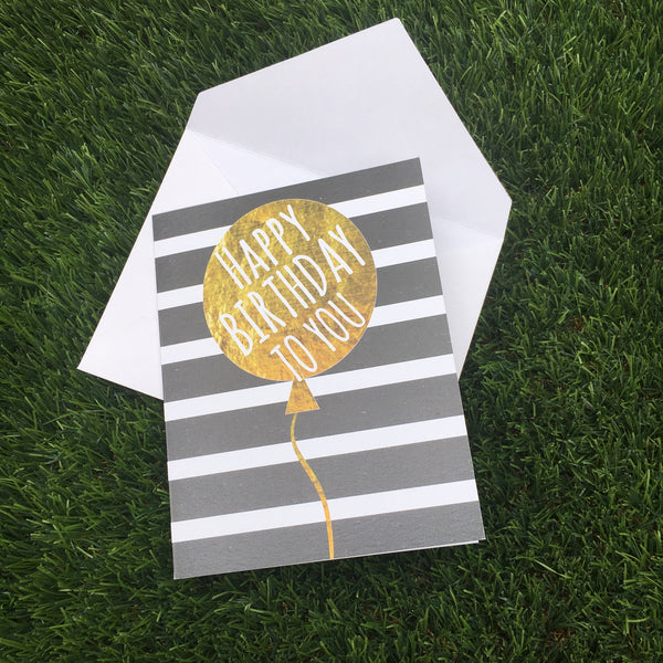 Greeting Card Balloon Birthday Card - LoveThisStuff.com