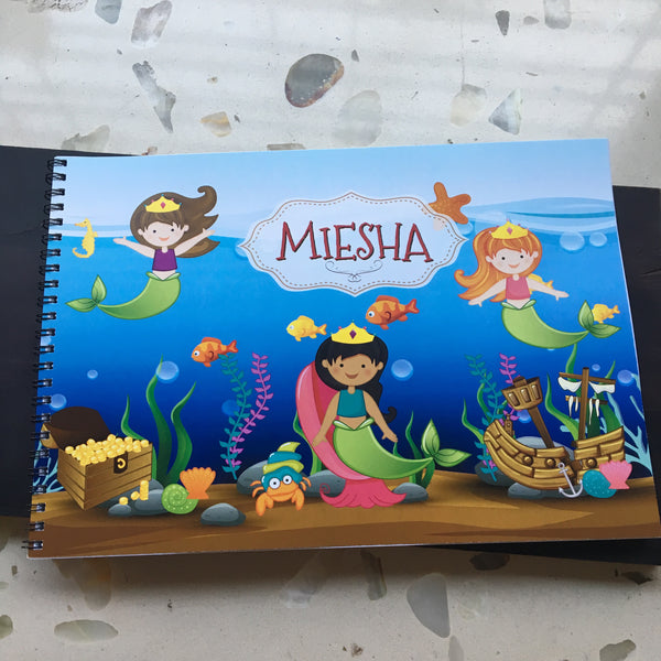 Kid's Sketch book Art Book - Mermaid (A4) - LoveThisStuff.com