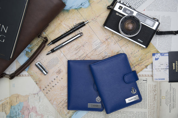 Passport holder - Blue