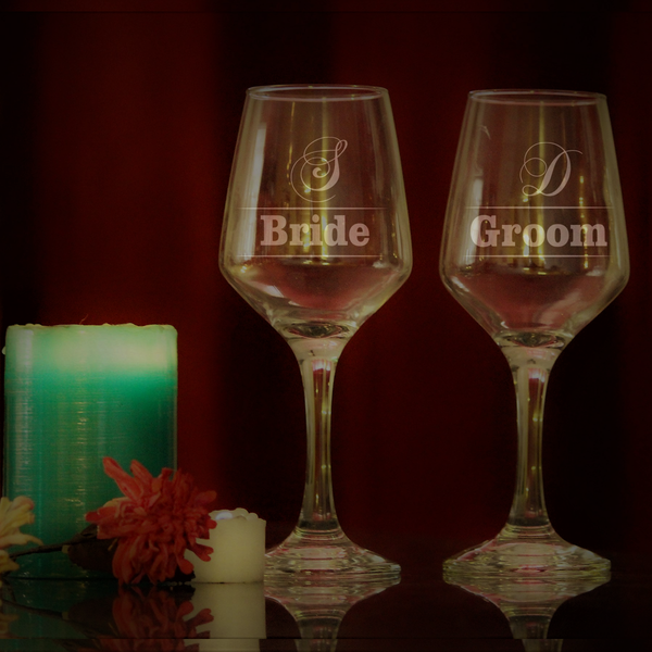 Wine Glass Bride&Groom Wine Glasses - LoveThisStuff.com
