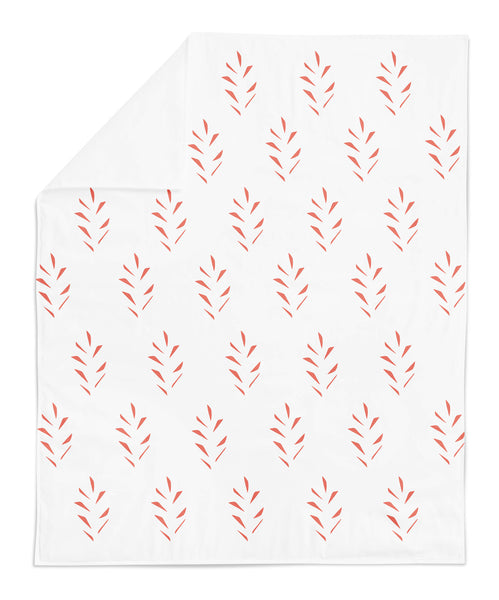 Leaves White Baby Blanket - LoveThisStuff
