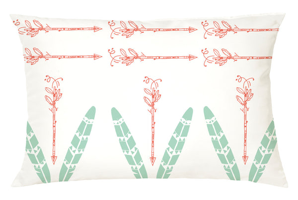 Cushion Cover Feathers and Arrows White Cushion Cover - LoveThisStuff.com