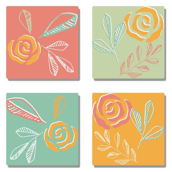Coaster Floral Coasters (Set of 4) - LoveThisStuff.com