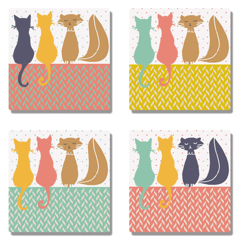 Coaster 3 Cats Coasters (Set of 4) - LoveThisStuff.com