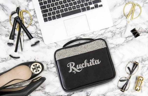 Personalised Black and Glitter - LoveThisStuff