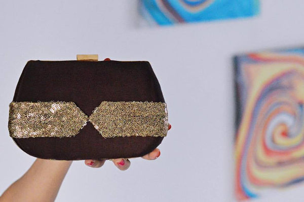 Women's Clutch Bag BOW BROWN CLUTCH - LoveThisStuff.com