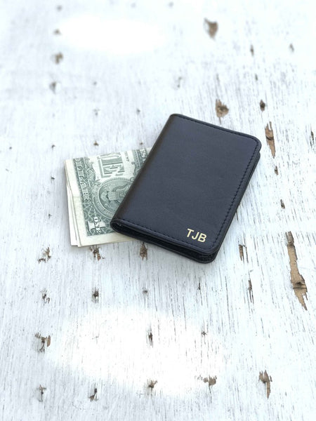 Minimal Wallet-Black-Personalised