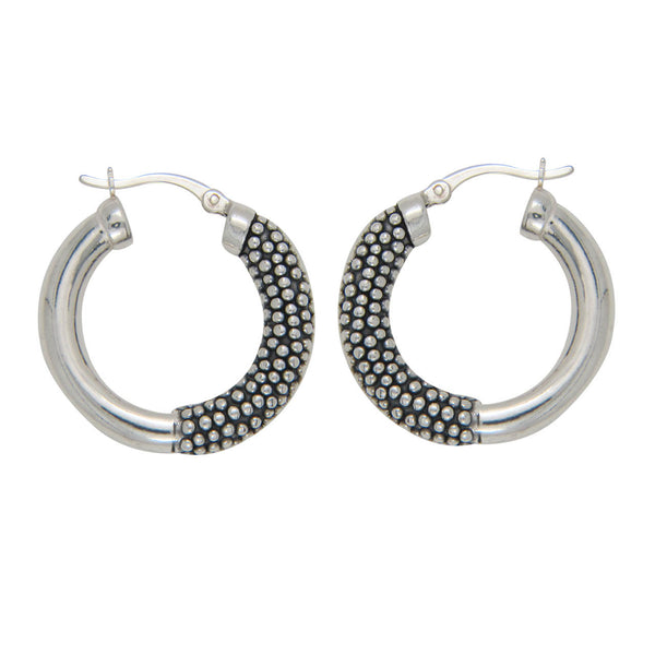 LeCalla Dual Pattern Hoop Earrings