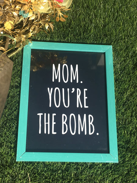 "Wall Poster ""Mom"" Quote Frame - LoveThisStuff.com"
