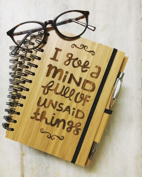 Unsaid Things Engraved Diary