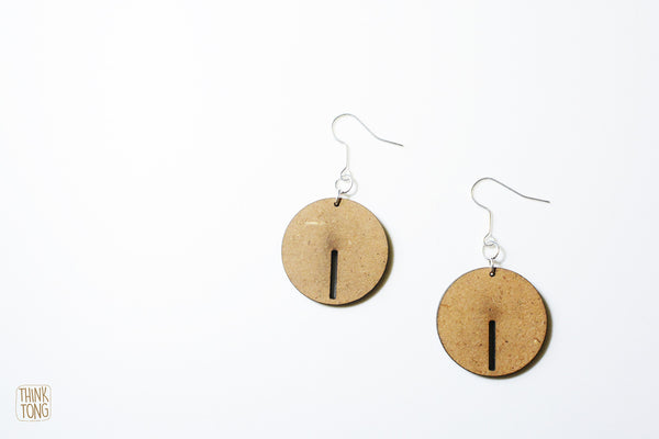 Dangle earrings Circle Earrings - LoveThisStuff.com