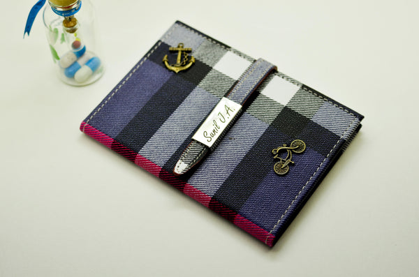 Women's Passport Cover Blue checks  Passport Cover - LoveThisStuff.com