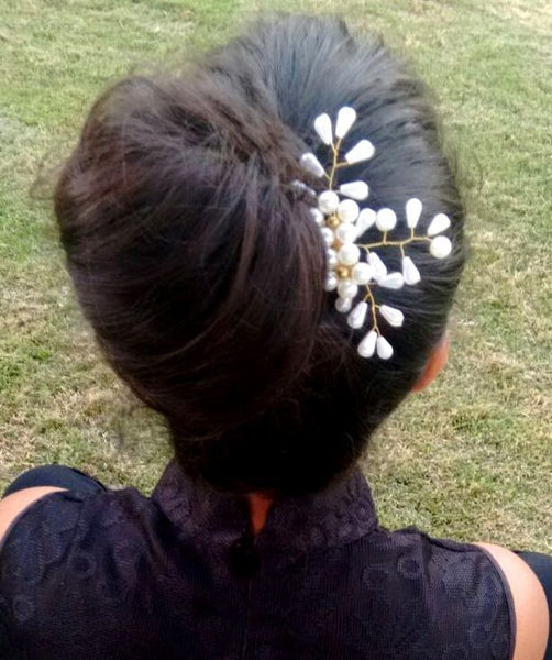 White Pearl Haircomb