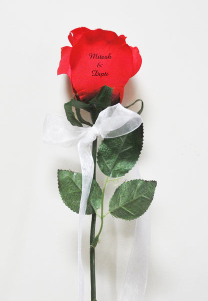 Message on flower (artificial)