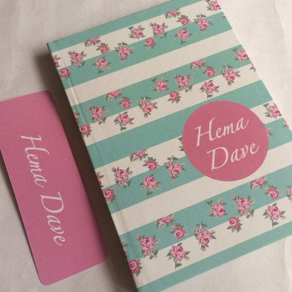 Diary Floral Print Notebook with Bookmark - LoveThisStuff.com