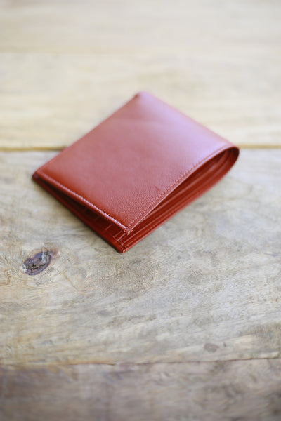 Wallet-Orange Leather