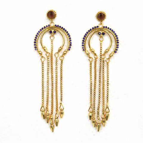 Long earrings Aanima Brass-Swarovski Earrings - LoveThisStuff.com