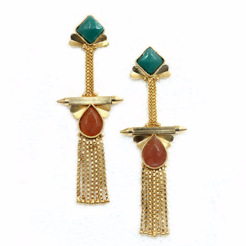 Aenam Brass-Swarovski Earrings