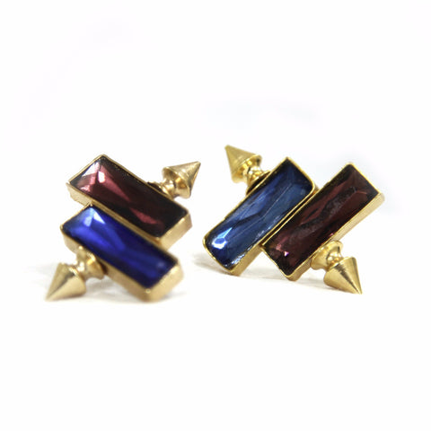 Aeza Brass-Swarovski Earrings