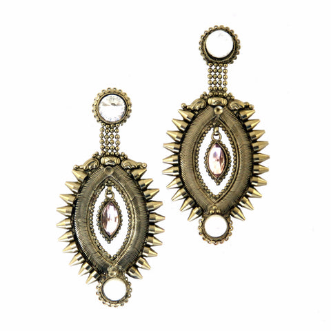 Amriza Brass-Swarovski Earrings