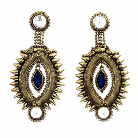 Atiya Brass-Swarovski Earrings