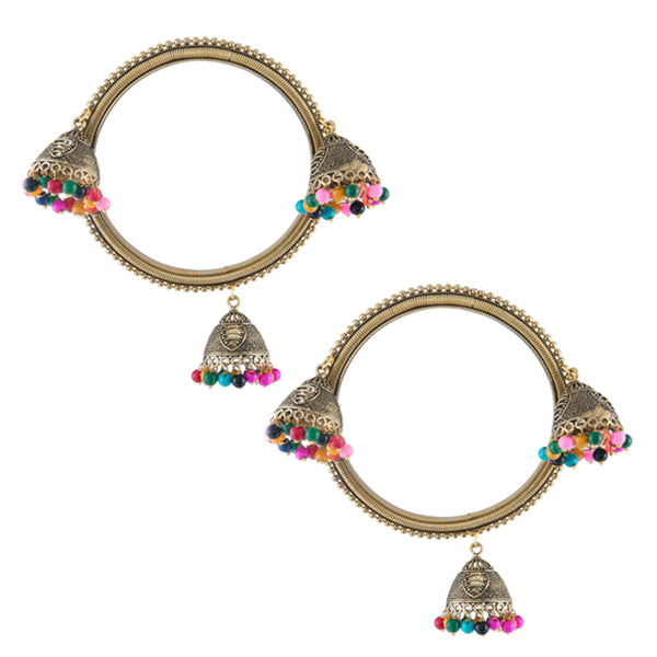 Multi-color Beads Dome Drop Bangles