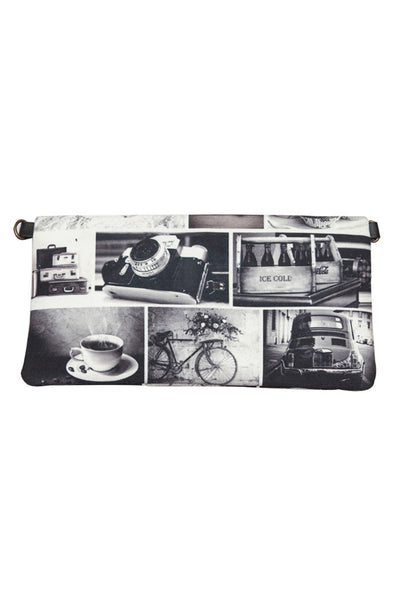 Women's Clutch Bag Black N White Clutch & Sling - LoveThisStuff.com