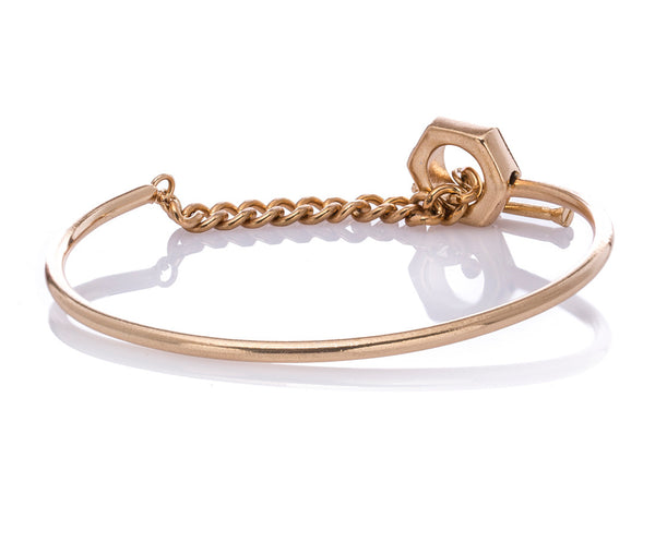 Women's Bracelet Chain link Bolt and Screw Bracelet - LoveThisStuff.com