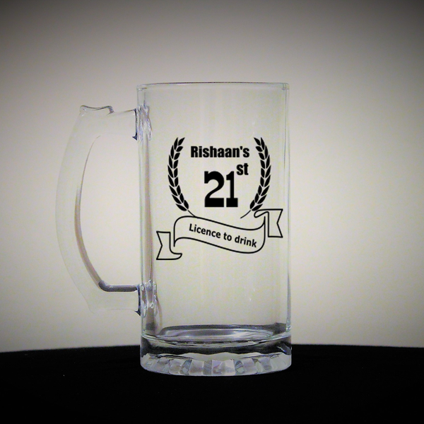Personalized birthday beer mug - LoveThisStuff