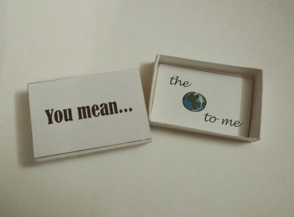 Greeting Card Box card - you mean the world - LoveThisStuff.com