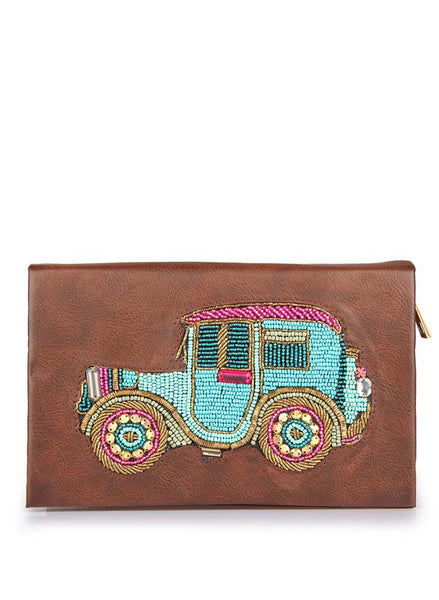 Women's Clutch Bag Car Clutch Tan - LoveThisStuff.com