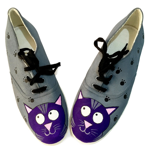 CAT Hand Painted Shoe