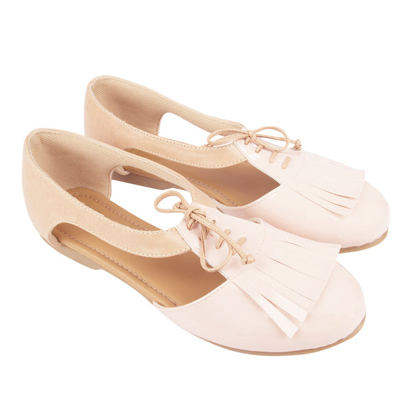 PINK TAN OXFORD SHOES - LoveThisStuff