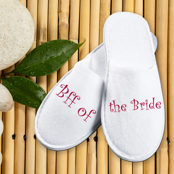 Bathroom Slippers Carpet Slippers- BFF of the Bride - LoveThisStuff.com