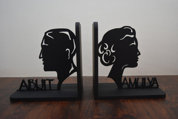Personalised Man Woman Bookends